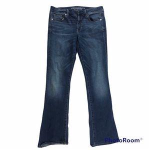 American Eagle super stretch skinny kick jeans boot cut size 12